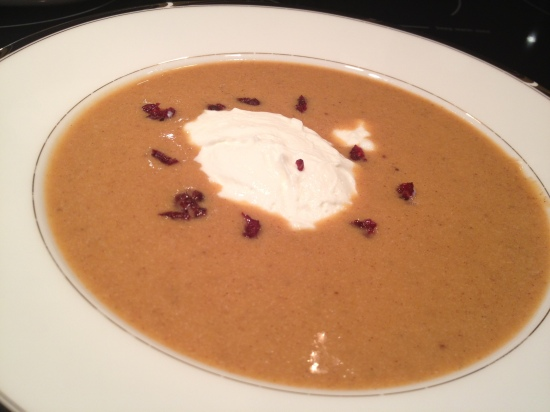Cranberry sweet potato soup copyright Shelagh Donnelly