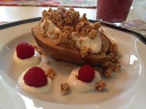 Baked Pears w Yogurt, Granola 5 Copyright Shelagh Donnelly