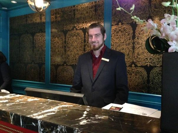 Brad, Hotel Monaco Alexandria Copyright Shelagh Donnelly