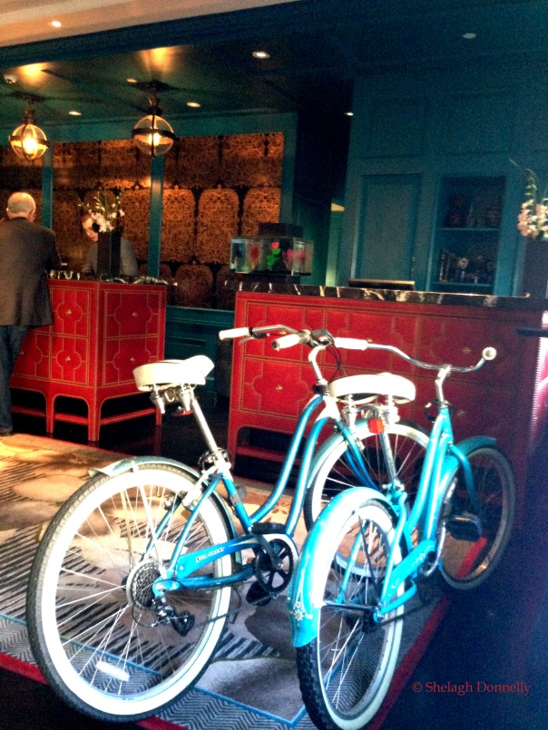 Hotel Monaco Bikes, Reception Copyright Shelagh Donnelly