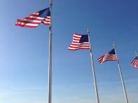 US Flags at Washington Monument