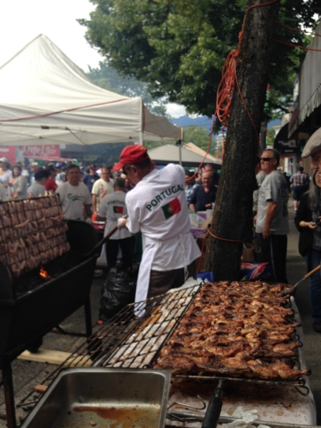Portuguese Club Barbequed Chicken Copyright Shelagh Donnelly