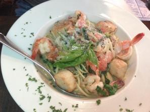 Patzeria Seafood Linguini Copyright Shelagh Donnelly