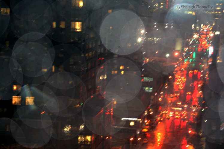 Traffic through Raindrops on 48th NYC 0761 Copyright Shelagh Donnelly